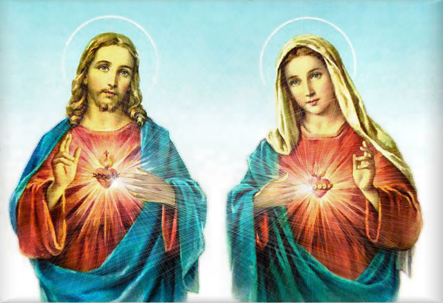 sacred heart jesus and immaculate heart mary